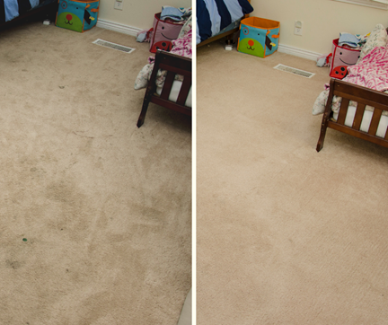 before and after carpet cleaning in kids room Merced CA