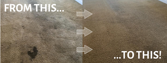 before and after carpet cleaning results in Merced CA