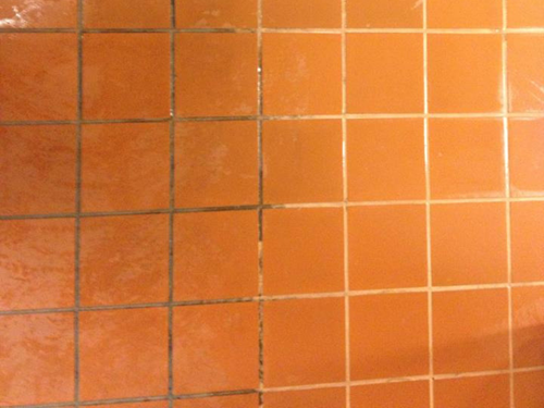 before and after tile and grout lines in Merced CA