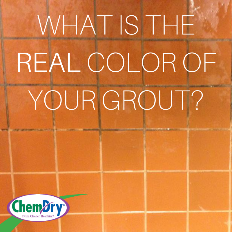 what color is your grout image showing dirty and clean grout side by side